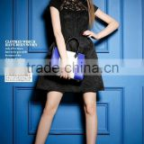 Elegant embroidered lace comfortable fashion collection small black dress stylish party dress