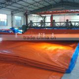 Waterproof China HDPE tarpaulin factory hot sale truck tarpaulin,Orange red pe tarpaulin, pe tarpaulin covers