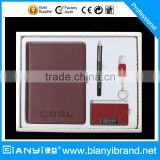 4 in 1 business card holder and pen gift set with USB flash driver and notebook promotion gift set                                                                         Quality Choice