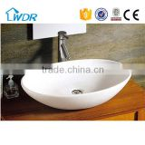 Counter top basin oval art basin,bathroom ceramic wash basin                                                                                                         Supplier's Choice