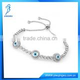 Fashion 925 Sterling Silver Designer Evil Eye Tennis Bracelet