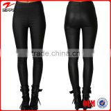 2014 Fashion Black Pants Women Leather Leggings