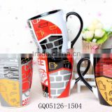 340ml decals for ceramic cups coffee sets and gift box for promotional
