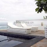 Classic Rattan Sunbed- Patio Garden Sunbed - Wicker Rattan Sun Lounger Resort and Hotel Furniture