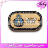 2016 Promotional metal customized gold plated lion club dog tag