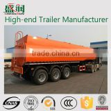 Fuel Tanker Semi trailer Dimensions/3 Axle Fuel Delivery Trucks Oil Tanker Trailer