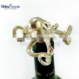 metal gold octopus wine bottle stopper wine cork                                                                                                         Supplier's Choice