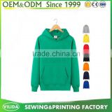 OEM Plain Pullover Green Promotional Blank men's hoodies & sweatshirts with hood