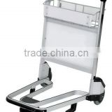 RH-J02-1 250KGS capacity 180dia. wheels 950*670*1050mm Aluminum Airport Trolley Without Brake with basket
