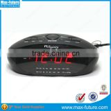 0.9' Inch Jumbo Size LED Red Display Alarm Clock Radio with Built-in Speaker