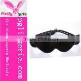 Sex set decorative eye patch restrain sex handcuff heavy latex bondage
