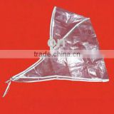 fashion plastic rain bonnet/folding rain hat