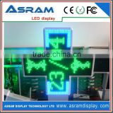 electronics ip65 p16 led pharmacy cross full color LED cross display / LED pharmacy cross/LED cross sign