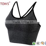 High Quality Wholesale 2016 New Spring Summer Women Seamless Bra Sports Bra Push Up Padded Running Bra Thin Tank Vest Top