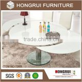 Function glass table & stainless steel light dining table,Simple features dining table