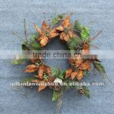 Handmade Artificial Poinsettia Christmas Flower Wreath