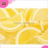 Hot Sale Bulk Packaging Lemon Candy , Fruit Flavor Slice Sugar Coated Jelly Candy