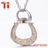 flower of life pendant necklace wholesale fashion rose gold plating zircon inlay 316l stainless steel jewelry for girls
