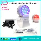 Mini pdt mask 2 color led photon light therapy led color light therapy collagen led light therapy