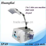 Skin Whitening 2015 Hot Newest Machine Manufacture Offer Jet Peel With Pdt Led Led Facial Light Therapy
