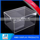 China Gold Supplier for Cheap acrylic Nike shoe storage box display with size customized