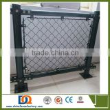 Black paint Square hole wire mesh chain link fence for baseball field