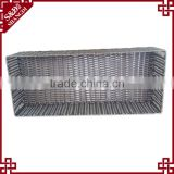Hand woven plastic rattan shoes basket for hotel and home shoes storage