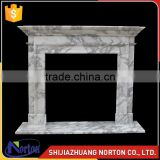 hot sale Bianco Carrara gas fireplace frame NTMF-F519X