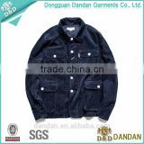Dongguan Clothing high quality jean corduroy jacket for men
