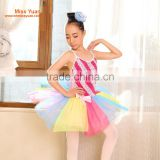 China in stock twill colorful kids stage ballet dance dress