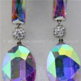 Fashion Pretty Glass Stone Rhinestone Ball Earring