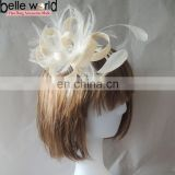 Fashion NEW women white flower Fascinator hair comb