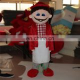 HI EN71 funny mascot costume with high quality,professional cartoon character costume with red color