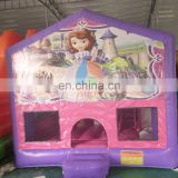 4.5x4.5x4m 0.55mmPVC girls favourite Sophia princess bounce house combo for fun