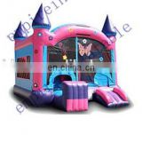 Creative cheap butterfly pattern inflatable castle with slide for kids NC013
