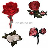 embroidery patch hand rose flower patches embroidery for Women Clothing