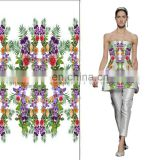 New Style Digital Printed Cotton Spandex Fabric Customer's design Fress Sample For Garment