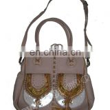 LEATHER BANJARA SHOULDER BAG WITH SUEDE FRINGE