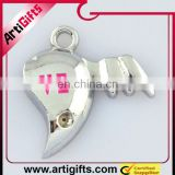 fashion half heart pendant