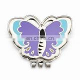 butterfly shape custom metal golf cap clips with high quality