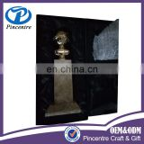 custom metal gold plated golden globe award trophy with marble base