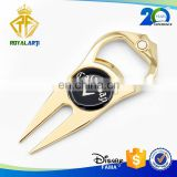 Top Selling Bottle Opener Gold Plating Golf Divot Tool with Marker