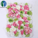 China supplier new design artificial silk rose flower wall