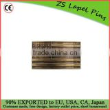 Custom quality Antique Brass USA Flag Plaque Buckle
