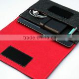 online wholesale comfortale healthy black 2.5 mm wool felt case for 4ipad with mini notebook earing pen holder in side