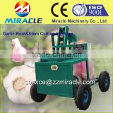 No damage garic root & stem remover/root of garlic cutting machine