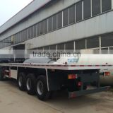 2015 Chinese flatbed semi trailer for 40ft 45ft 20ft shipping container with very good price and high quality