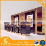 Imitation leather transparent acrylic watch display stand formica laminate watch display cabinet