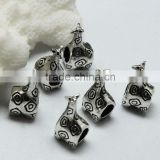 Lead Free Nickle Free Zinc Alloy Pdora Deerlet Shape Jewelry Hole Beads for Bracelets and Necklaces