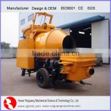 Mobile Diesel engine Trailer mounted Concrete Mixer Pump With Boom